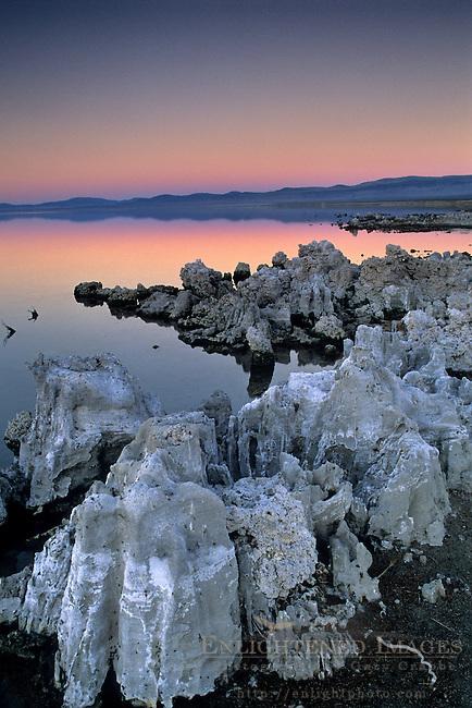 Twilight over tufa at Navy Beach, Mono Lake, Eastern Sierra Mono County, CALIFORNIA