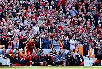 Liverpool's Alex Oxlade-Chamberlain joins the action<br /> <br /> Photographer Rich Linley/CameraSport<br /> <br /> The Premier League - Liverpool v Wolverhampton Wanderers - Sunday 12th May 2019 - Anfield - Liverpool<br /> <br /> World Copyright © 2019 CameraSport. All rights reserved. 43 Linden Ave. Countesthorpe. Leicester. England. LE8 5PG - Tel: +44 (0) 116 277 4147 - admin@camerasport.com - www.camerasport.com