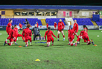 13th February 2020; Deva Stadium, Chester, Cheshire, England; Womens Super League Football, Liverpool Womens versus Arsenal Womens; Liverpool Women players warm up before the match against Arsenal