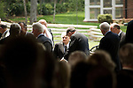Thursday, May 31, Charlotte, North Carolina. Dedication ceremony for the new Billy Graham Library in Charlotte, North Carolina.. The reverend Billy Graham, center.
