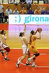 Catalunya vs Montenegro: 83-57.<br /> Bojana Kovacevic vs Lucila Pascua.