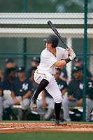 GCL Pirates shortstop Kyle Mottice (24) at bat during the first game of a doubleheader against the GCL Yankees East on July 31, 2018 at Pirate City Complex in Bradenton, Florida.  GCL Yankees East defeated GCL Pirates 2-0.  (Mike Janes/Four Seam Images)