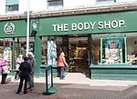 The Body Shop shoppers walking in street, Tavern Street, Ipswich, Suffolk, England, UK