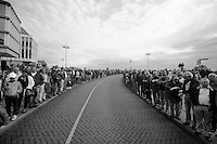 48th Amstel Gold Race 2013..the crowd riding out of Maastricht