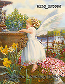 CHILDREN, KINDER, NIÑOS, paintings+++++,USLGSK0086,#K#, EVERYDAY ,Sandra Kock, victorian ,angels