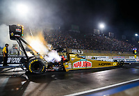 Jul 21, 2017; Morrison, CO, USA; NHRA top fuel driver Leah Pritchett during qualifying for the Mile High Nationals at Bandimere Speedway. Mandatory Credit: Mark J. Rebilas-USA TODAY Sports
