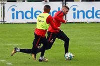 Ante Rebic (Eintracht Frankfurt) gegen Kevin-Prince Boateng (Eintracht Frankfurt) - 10.10.2017: Eintracht Frankfurt Training, Commerzbank Arena