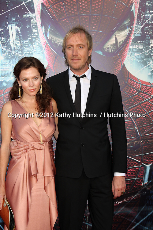 "LOS ANGELES - JUN 28:  Anna Friel, Rhys Ifans arrives at the ""The Amazing Spider-Man"" Premiere at Village Theater on June 28, 2012 in Westwood, CA"