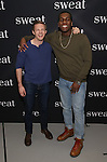 Will Pullen and Khris Davis attend the photocall for the Broadway cast of 'Sweat'  at The New 42nd Street Studios on 2/16/2017 in New York City.