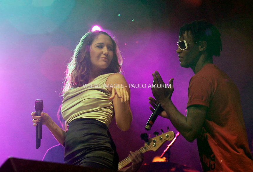 Brazilian Toni Garrido and Maria Rita singer performs on stage during the 2nd day of the Rock in Rio festival at Bela Vista Park in LIsbon,Portugal  on 22 May 2010.