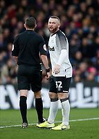5th January 2020; Selhurst Park, London, England; English FA Cup Football, Crystal Palace versus Derby County; Wayne Rooney of Derby County - Strictly Editorial Use Only. No use with unauthorized audio, video, data, fixture lists, club/league logos or 'live' services. Online in-match use limited to 120 images, no video emulation. No use in betting, games or single club/league/player publications