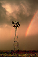 A double rainbow marks the end of a day with severe thunderstorms over the Texas Panhandle.