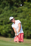 TAOYUAN, TAIWAN - OCTOBER 26:  Nicole Castrale of USA chips into the 9th green during the day two of the Sunrise LPGA Taiwan Championship at the Sunrise Golf Course on October 26, 2012 in Taoyuan, Taiwan. Photo by Victor Fraile / The Power of Sport Images