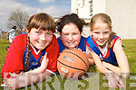 TOP STARS:  Athea  Basketball Team  members Aoife O'Connor, Nicola Horgan and Stephanie Ahern who took part in the annual Dromclough National School Basketball Tournament in Listowel last weekend..