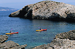 .Bisevo Island; Kayak.Cruise in Croatia. Island of Dalmatia