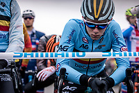Thibau Nys (BEL) pre race focus <br /> <br /> Men's Junior race<br /> UCI 2020 Cyclocross World Championships<br /> Dübendorf / Switzerland<br /> <br /> ©kramon