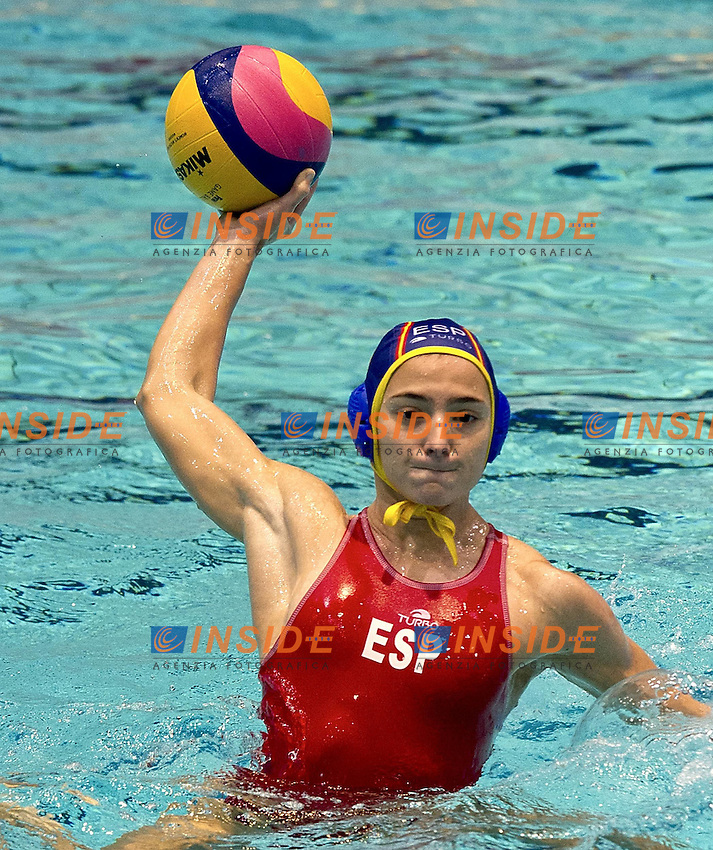 Eindhoven , Netherlands (NED) 16 - 29 January 2012.LEN European  Water Polo Championships 2012.Day 07 - Women.Greece (White) - Spain (Blue).Photo Insidefoto / Giorgio Scala
