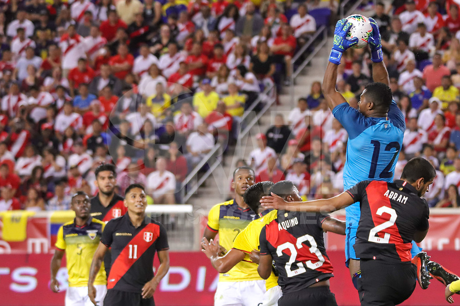 Harrison (EUA), 05/09/2019 - Amistoso Internacional - Peru x Equador -  Pedro Ortiz do Equador durante partida contra o Peru amistoso internacional na Red Bull Arena em Harrison nos Estados Unidos nesta quinta-feira, 05. (Foto: William Volcov/Brazil Photo Press)