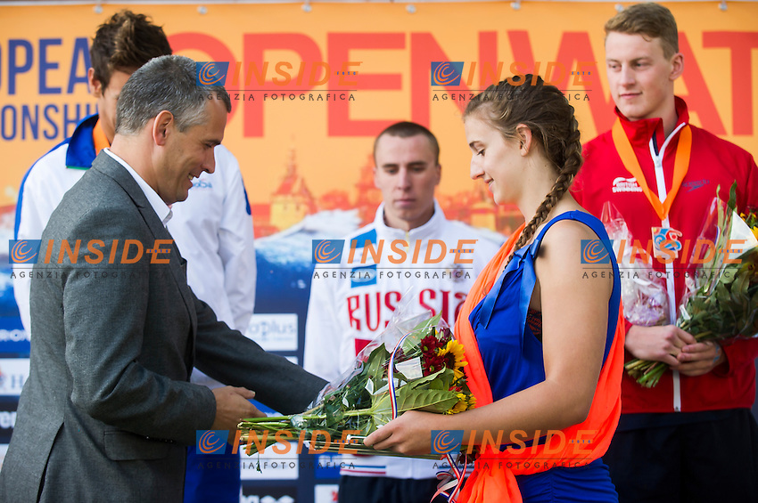 Podium - medal ceremony<br /> Hoorn, Netherlands <br /> LEN 2016 European Open Water Swimming Championships <br /> Open Water Swimming<br /> Men's 5km<br /> Day 02 12-07-2016<br /> Photo Giorgio Perottino/Deepbluemedia/Insidefoto