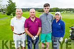 Tom Galvin, John and David Culloty and Mary Tracey members of the Killarney Golf & Fishing Club hosting their charity event for the Kerry Cancer Support Group & Irish Kidney Association (Kerry Branch) on Saturday.