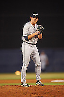 Lakeland Flying Tigers starting pitcher Tyler Alexander (15) gets ready to deliver a pitch during a game against the Tampa Yankees on April 8, 2016 at George M. Steinbrenner Field in Tampa, Florida.  Tampa defeated Lakeland 7-1.  (Mike Janes/Four Seam Images)