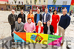 Launching the Tralee Freshers Festival 19 in the Square on Monday.<br /> Kneeling L to r: David Scott (Tralee Chamber Alliance), Justin Cavanagh, Petrana Comerford and Jason O'Byrne from the IT Tralee Students Union.<br /> Back l to r: Rory Frice, Tadhg Flynn, Helena McMahon (IT Tralee), Paul Ruane, Dale Brosnan (HQ Tralee), Mary Lucey (Principal KCFE) and Ken Tobin (Tralee Chamber Alliance).