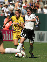 Maren Meinert, Germany 2-1 over Sweden at the  WWC 2003 Championships.