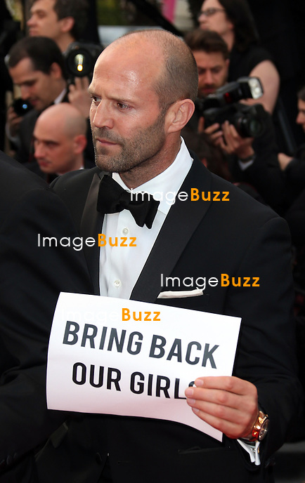 CPE/ Jason Statham attends 'The Expendables 3' premiere during the 67th Annual Cannes Film Festival on May 18, 2014 in Cannes, France.