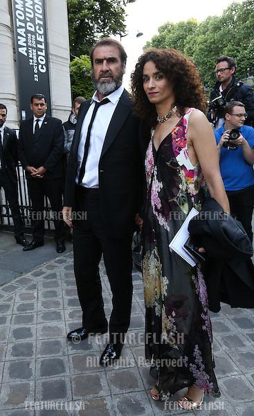 PARIS, FRANCE - JULY 05: (L-R) Eric Cantona &amp; Rachida Brakni  arrives at the Vogue Foundation Gala 2016 at Palais Galliera <br /> July 5, 2016  Paris, France<br /> Picture: Kristina Afanasyeva / Featureflash