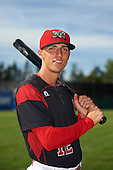 Batavia Muckdogs center fielder Corey Bird (12) poses for a photo before a game against the West Virginia Black Bears on June 30, 2016 at Dwyer Stadium in Batavia, New York.  Batavia defeated West Virginia 4-3.  (Mike Janes/Four Seam Images)