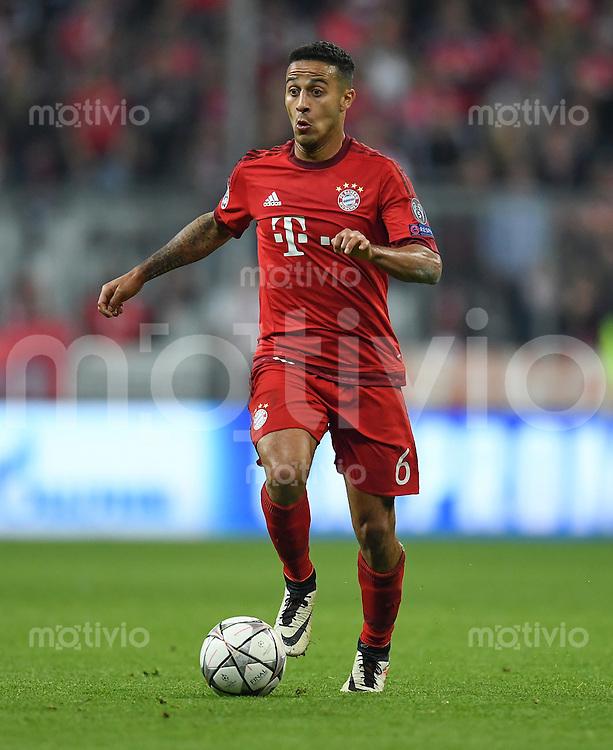 FUSSBALL CHAMPIONS LEAGUE  SAISON 2015/2016 VIERTELFINALE HINSPIEL FC Bayern Muenchen - Benfica Lissabon         05.04.2016 Thiago Alcantara (FC Bayern Muenchen)