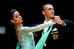 Giuseppe Longarini and Katarzyna Kapral of Poland during the WDSF GrandSlam Standard on the Day 2 of the WDSF GrandSlam Hong Kong 2014 on June 01, 2014 at the Queen Elizabeth Stadium Arena in Hong Kong, China. Photo by AItor Alcalde / Power Sport Images