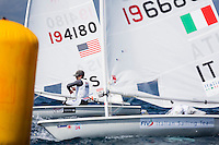 20140331, Palma de Mallorca, Spain: SOFIA TROPHY 2014 - 850 sailors from 50 countries compete at the ISAF Sailing World Cup event.  Laser - USA194180 - Chris Barnard. Photo: Mick Anderson/SAILINGPIX