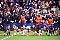 9th February 20020, Stade de France, Paris, France; 6-Nations international mens rugby union, France versus Italy;  Charles Ollivon , Bernard Le Roux,  Demba Bamba , Boris Palu  and Teddy Thomas  of France