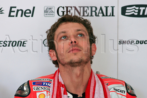 19.10.2012. Sepang, Malaysia.   Valentino Rossi of Ducati Team during the friday's free practice session for MotoGP class of  Malaysian Motorcycle Grand Prix  held at Sepang International Circuit in Sepang, Malaysia.......