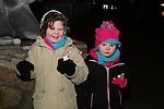 Niamh and Leah Lavelle at the Arrival of Santa and the turning on of the Christmas Lights in Dunleer...(Photo credit should read Jenny Matthews www.newsfile.ie)....This Picture has been sent you under the conditions enclosed by:.Newsfile Ltd..The Studio,.Millmount Abbey,.Drogheda,.Co Meath..Ireland..Tel: +353(0)41-9871240.Fax: +353(0)41-9871260.GSM: +353(0)86-2500958.email: pictures@newsfile.ie.www.newsfile.ie.