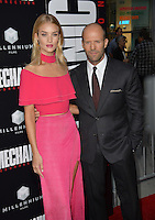 LOS ANGELES, CA. August 22, 2016: Actor Jason Statham &amp; girlfriend actress/model Rosie Huntington-Whiteley at the Los Angeles premiere of &quot;Mechanic: Resurrection&quot; at the Arclight Theatre, Hollywood.<br /> Picture: Paul Smith / Featureflash