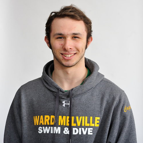 Luka Zuric of Ward Melville poses for a portrait during Newsday's All-Long Island boys swimming photo shoot at company headquarters in Melville on Friday, March 23, 2018.