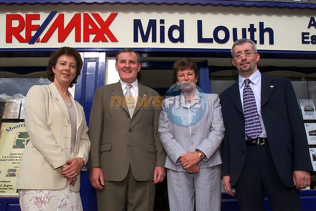 Ann Kelly, administrator, John and Helene Little owners of RE/MAX Ardee and Micheal Kirby, associate, pictured at the opening of RE/MAX auctioneers in Ardee..Picture: Arthur Carron/Newsfile