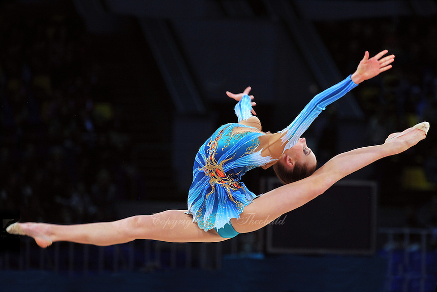 "ALEKSANDRA NARKEVICH of Belarus performs in Event Finals at 2011 World Cup Kiev, ""Deriugina Cup"" in Kiev, Ukraine on May 8, 2011."