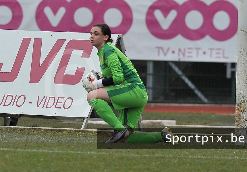 France U19 - Belgium U19 : Nicky Evrard.foto DAVID CATRY / Nikonpro.be