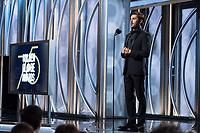 Zac Efron on stage at the 75th Annual Golden Globe Awards at the Beverly Hilton in Beverly Hills, CA on Sunday, January 7, 2018.<br /> *Editorial Use Only*<br /> CAP/PLF/HFPA<br /> &copy;HFPA/PLF/Capital Pictures