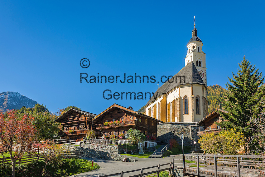 Austria, East-Tyrol, Virgen Valley, Obermauern: pilgrimage church Mary Snow | Oesterreich, Osttirol, Virgental, Obermauern: Wallfahrtskirche zu Unserer Lieben Frau Maria-Schnee