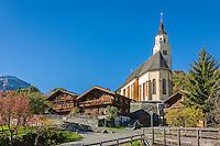 Austria, East-Tyrol, Virgen Valley, Obermauern: pilgrimage church Mary Snow   Oesterreich, Osttirol, Virgental, Obermauern: Wallfahrtskirche zu Unserer Lieben Frau Maria-Schnee