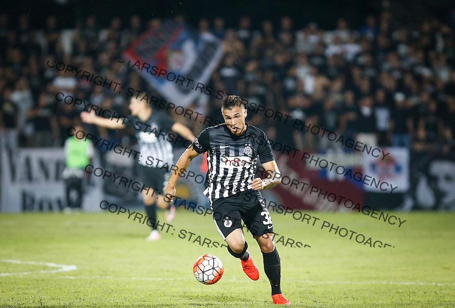 Fudbal Super League season 2016-2017<br /> Borac (Cacak) v Partizan<br /> Uros Djurdjevic <br /> Cacak, 11.09.2016.<br /> foto: Srdjan Stevanovic/Starsportphoto&copy;