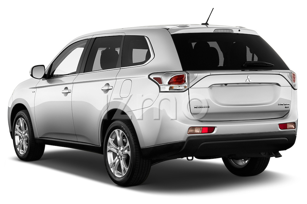 Car pictures of rear three quarter view of a 2014 Mitsubishi Outlander Instyle 5 Door SUV angular rear