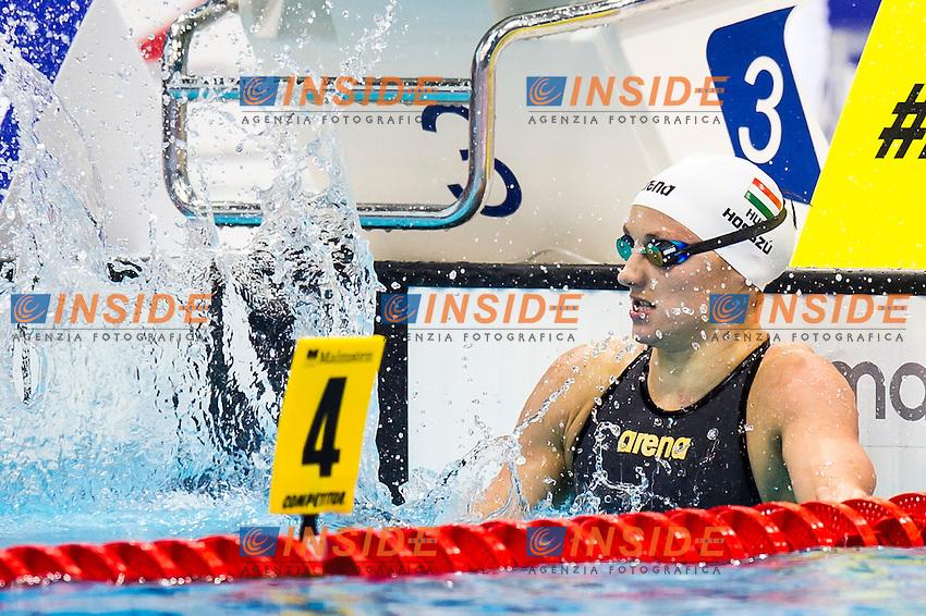 HOSSZU Katinka HUN gold medal<br /> London, Queen Elizabeth II Olympic Park Pool <br /> LEN 2016 European Aquatics Elite Championships <br /> Swimming<br /> Women's 200m backstroke final <br /> Day 09 17-05-2016<br /> Photo Giorgio Perottino/Deepbluemedia/Insidefoto