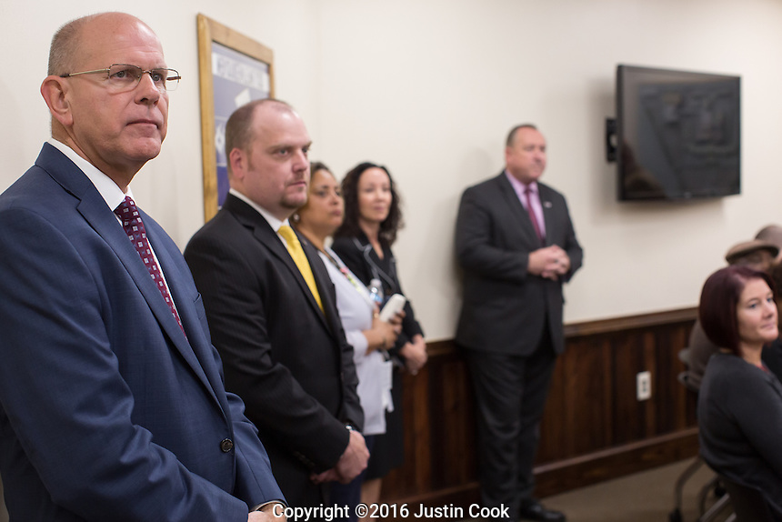 FAR LEFT: Associate Warden for Operations Jimmy Atkins at Central Prison in Raleigh, NC on Thursday, November 17, 2016. (Justin Cook)