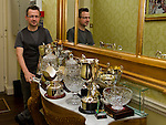 Chameleon Hair Stylist David Murray with his collection of awards..Picture: Shane Maguire / www.newsfile.ie