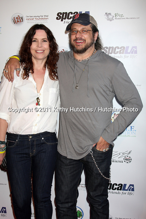 LOS ANGELES - MAY 24:  Annie Duke, Joe Reitman. arriving at the Celebrity Casino Royale Event at Avalon on May 24, 2011 in Los Angeles, CA